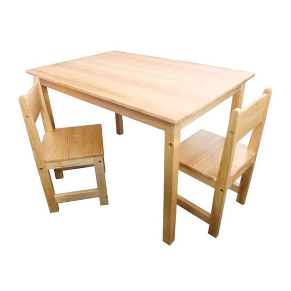 Kids rectangular table and chairs