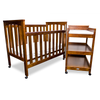 Tiburon walnut change table cot set with matress