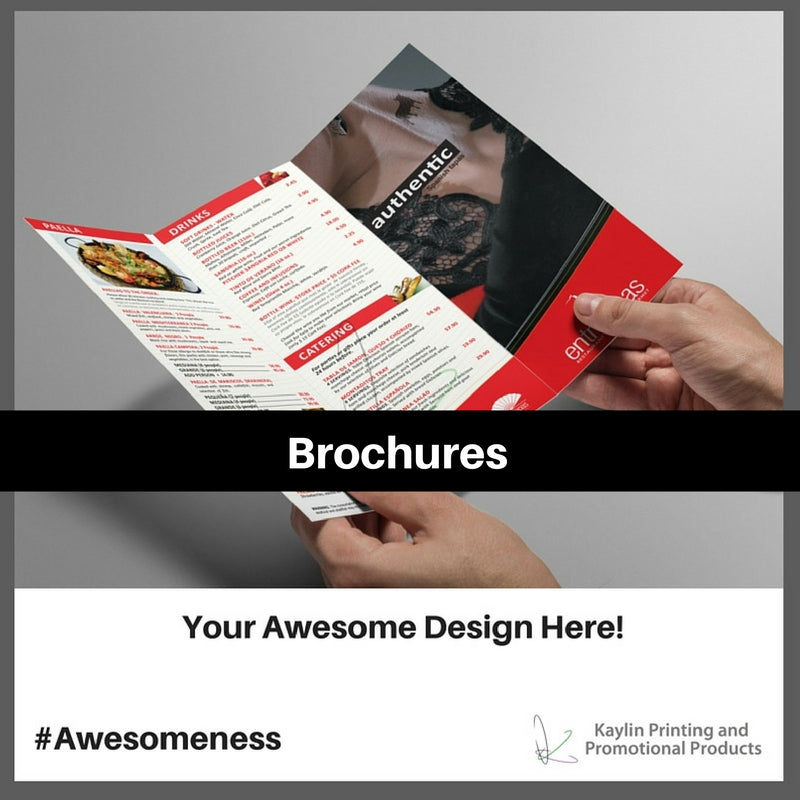 Brochures personalized with your custom imprint or logo.