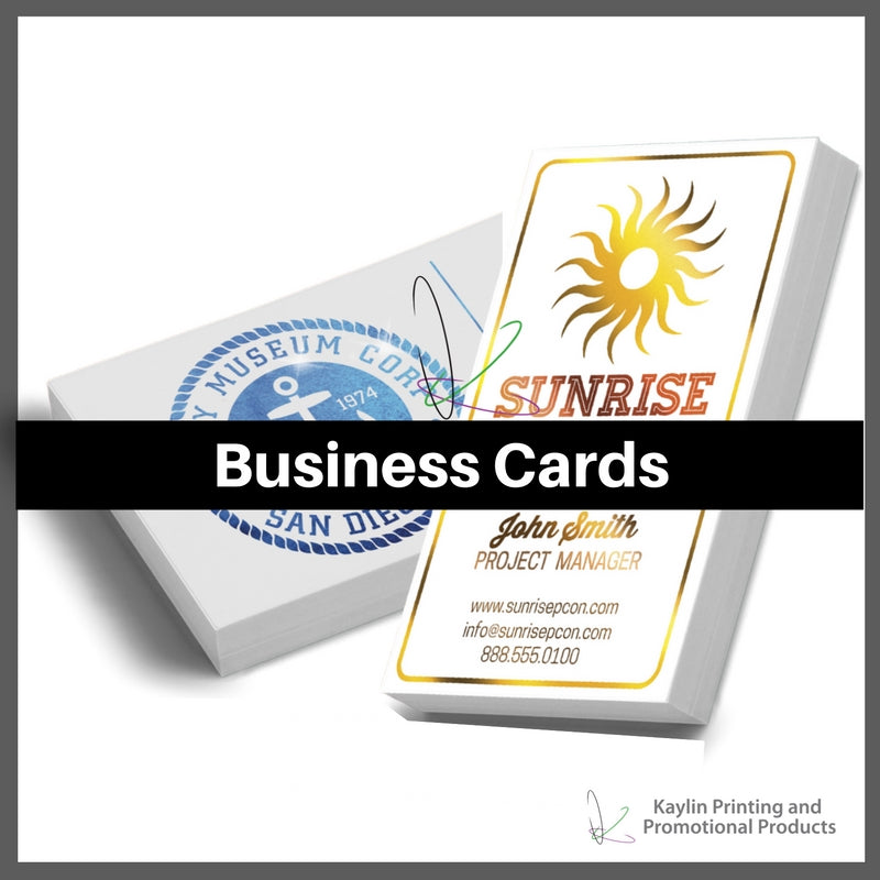 Business Cards personalized with your custom imprint or logo.