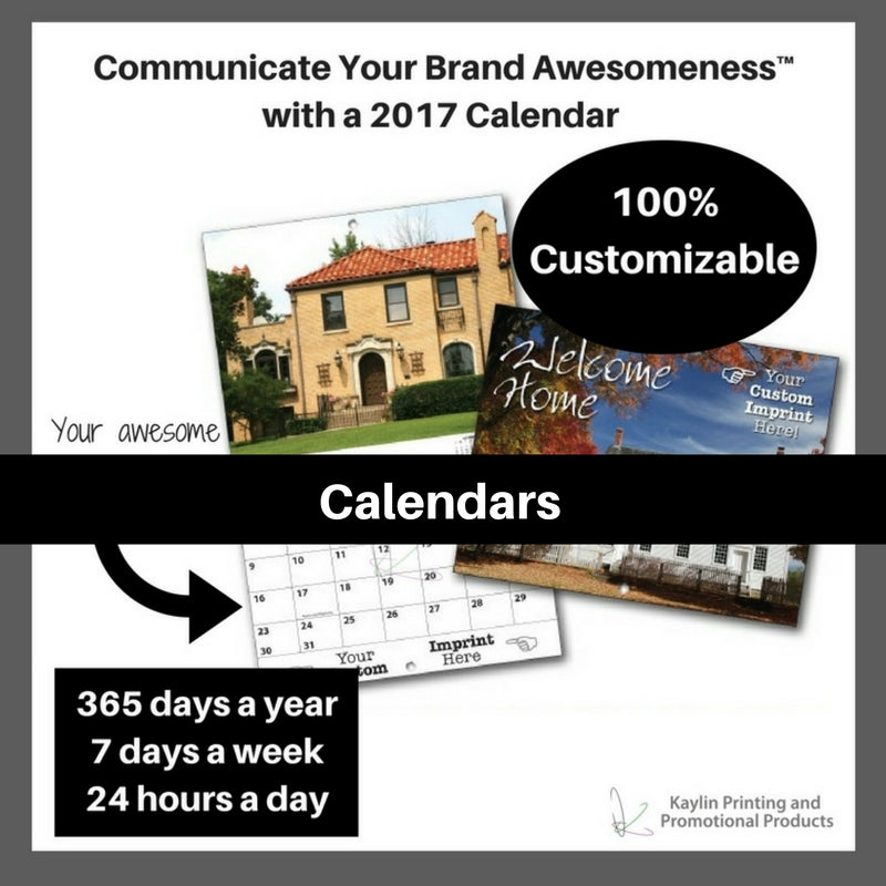 Calendars personalized with your custom imprint or logo.