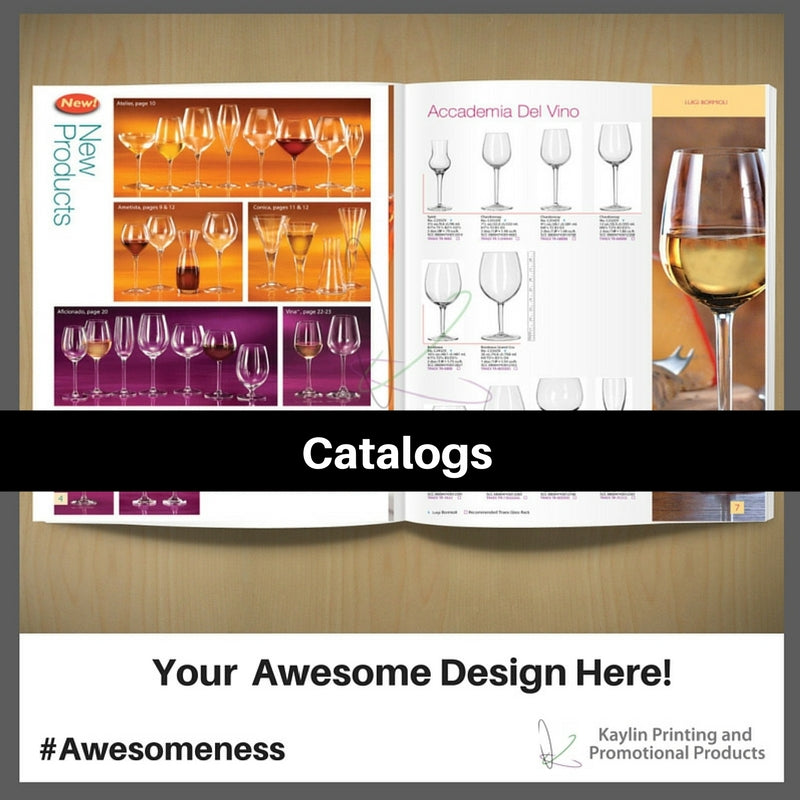 Catalogs personalized with your custom imprint or logo.