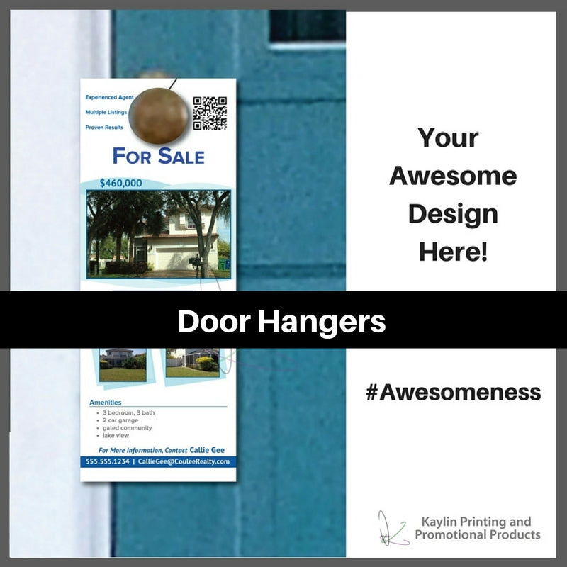 Door Hangers personalized with your custom imprint or logo.