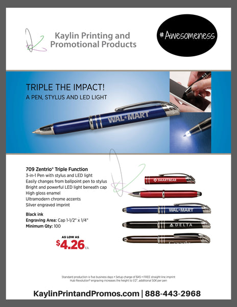 Light up stylus pens personalized with a custom imprint or logo.