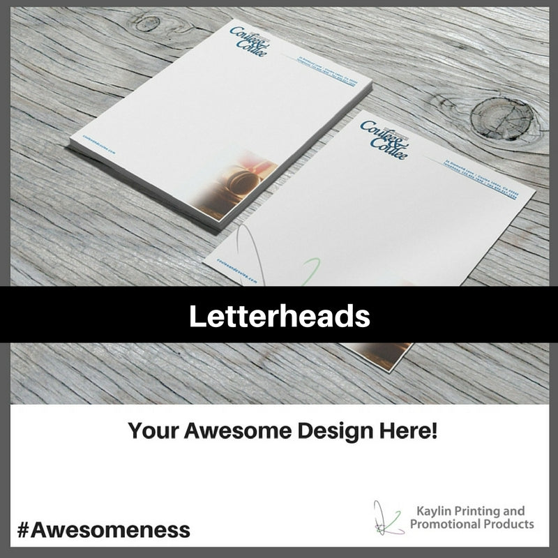 Letterheads printed and personalized with your custom imprint or logo.