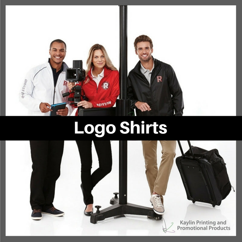 Logo shirts personalized with your custom imprint or logo.