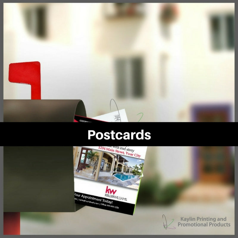 Postcards printed and personalized with your custom imprint or logo.