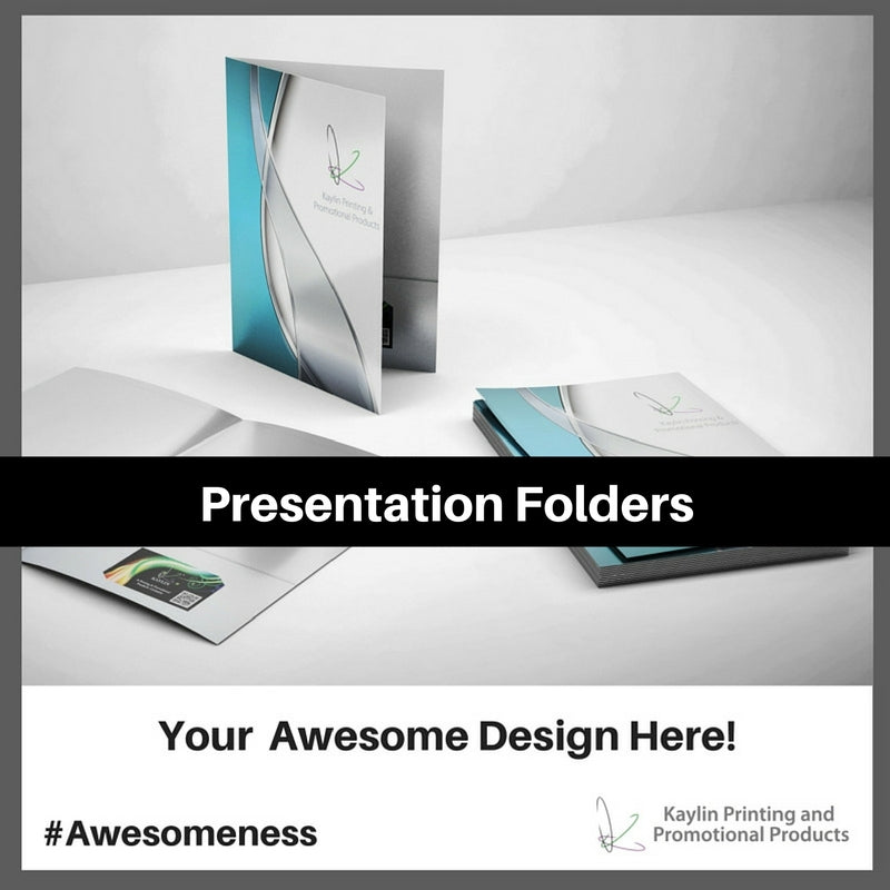 Presentation Folders printed and personalized with your custom imprint or logo.
