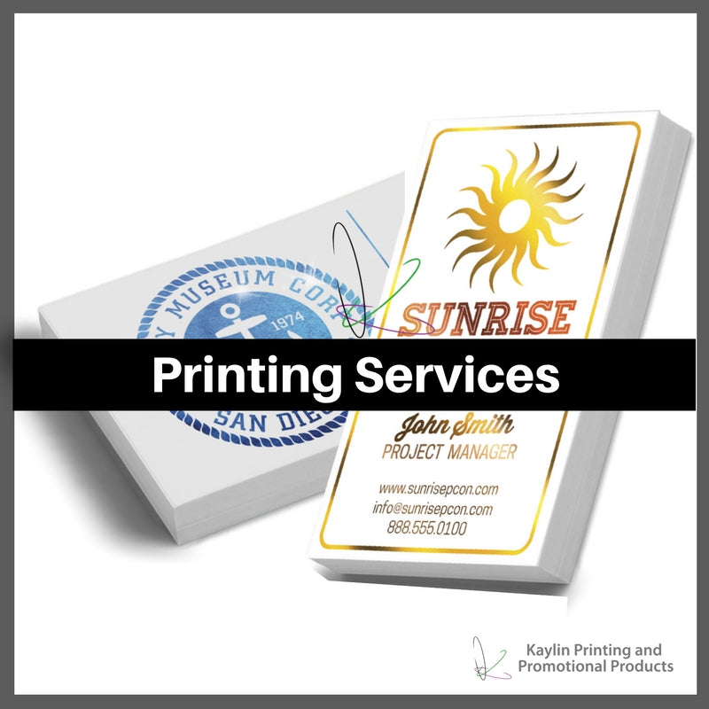 Printing Services personalized with your custom imprint or logo.