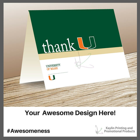 Printed Full Color Foldover Notecards Personalized With If You See Someone Without A Smile Give Them Yours