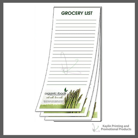 "KPP-NP-001 Notepads - Scratch Pads personalized with your custom imprint or logo. 4""x11"" 4x11"