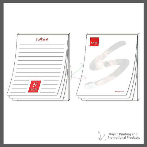 KPP-NP-001 Notepads - Scratch Pads personalized with your custom imprint or logo. 4.25- x 5.5- 4.25 x 5.5