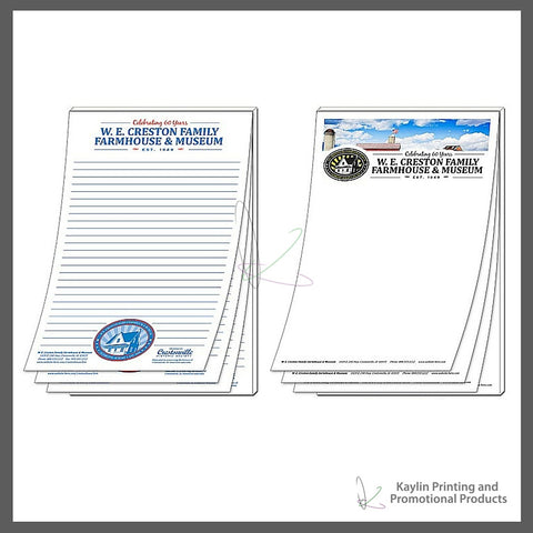 KPP-NP-001 Notepads - Scratch Pads personalized with your custom imprint or logo. 5.5- x 8.5- 5.5 x 8.5