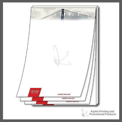 KPP-SN-001 Adhesive notepads - Sticky Notes personalized with your custom imprint or logo. 4-x6- 4x6