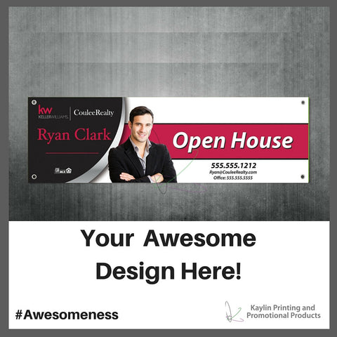 KP-BANNERS Full color indoor / outdoor vinyl banners printed and personalized with your custom imprint or logo.