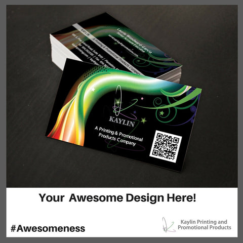 Full color business cards custom full color business cards kyn bc 001 custom printed full color business cards personalized with your custom imprint reheart Images