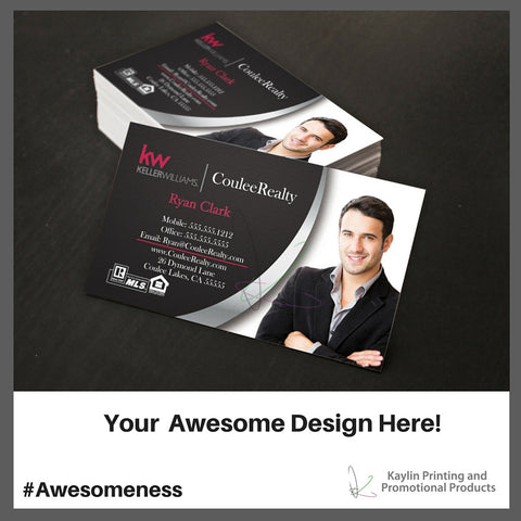 KYN-BC-001 Keller Williams Custom printed full color business cards personalized with your custom imprint or logo