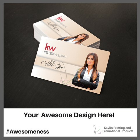 KYN-BC-001 Custom printed full color business cards personalized with your custom imprint or logo. Uncoated stock.