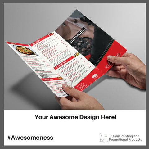 KYN-BRC-001 Custom printed full color brochures personalized with your custom imprint or logo.