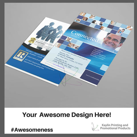 KYN DOOR 001 Custom Printed Full Color Flyers Sell Sheets Personalized With Your