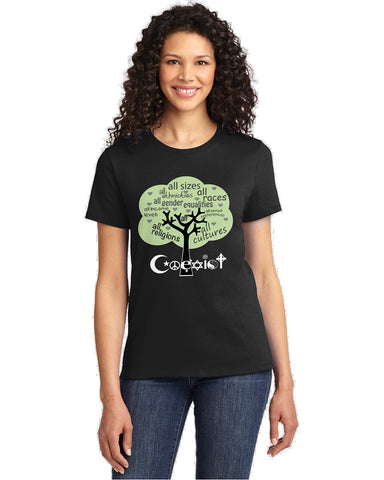 Coexist Tree Ladies T-Shirts