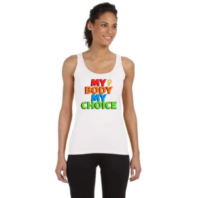 My Body My Choice Ladies Tank Tops