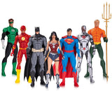 DC Justice League Rebirth Figures Set Display Of 7