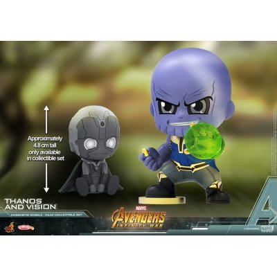 Cosbaby Thanos And Vision Coll Set Vinyl Figure