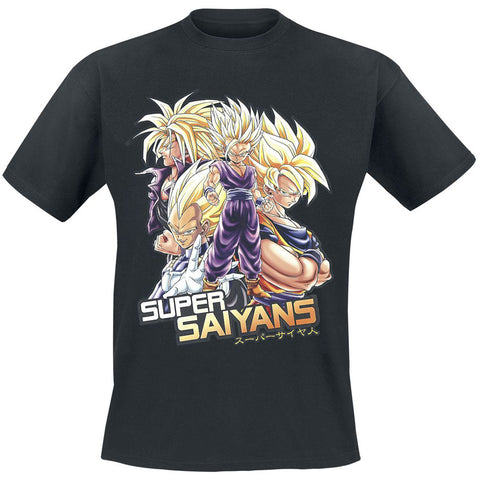 Dragon Ball Z Super Saiyans T-Shirts