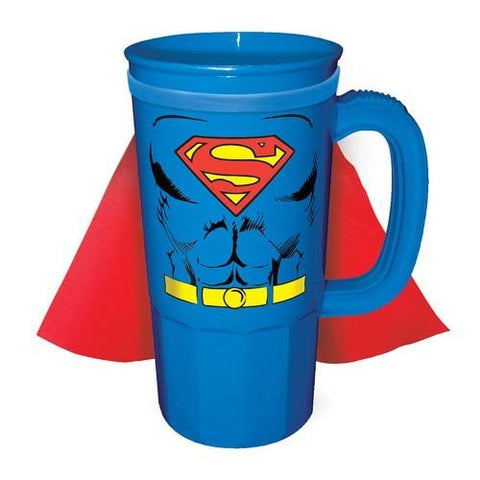 DC Comics Superman Character Chest Caped 22 oz. Plastic Stein