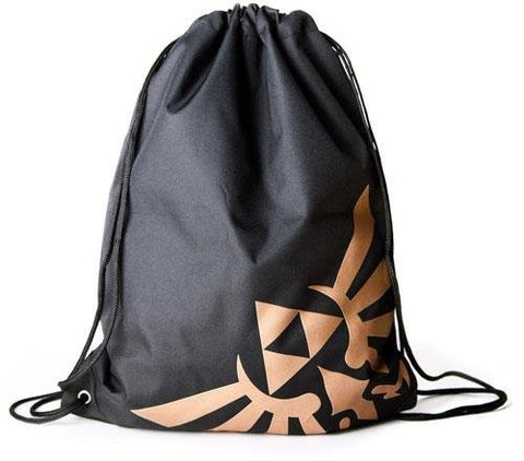 The Legend Of Zelda Golden Logo Gym Bag