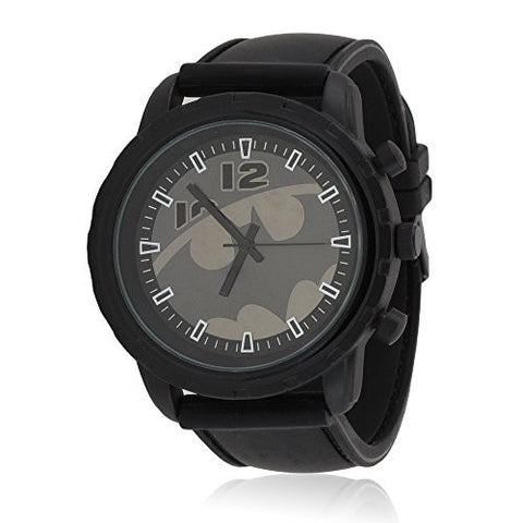 Batman Emblem Strap Watch (Gray and Gunmetal)