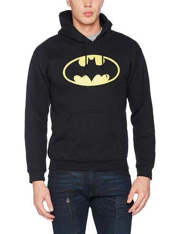 Batman Distressed Logo Hoodie - Black