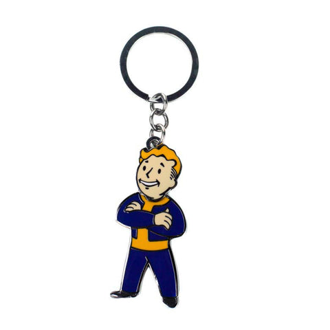 Fallout 4 Vault Boy with Movable Head Metal Keychain