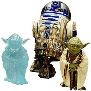 ArtFX+ Star Wars Yoda and R2-D2 Dagobah Statue