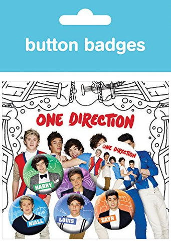 One Direction Cartoon Badge Pack