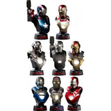 Iron Man 3 Deluxe Set of 8 Hot Toys Bust 1/6 Scale