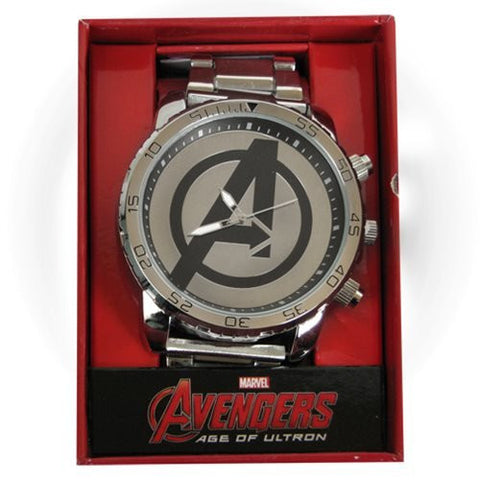 Age of Ultron Avengers Logo Silver Metal Watch
