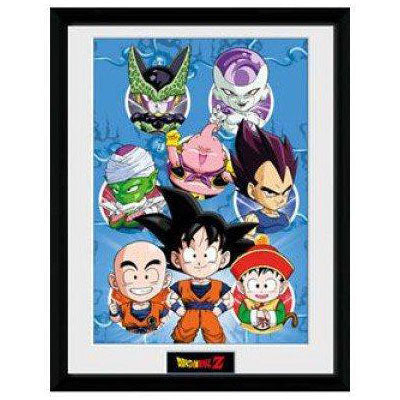Dragon Ball Z Chibi Characters Framed Portrait