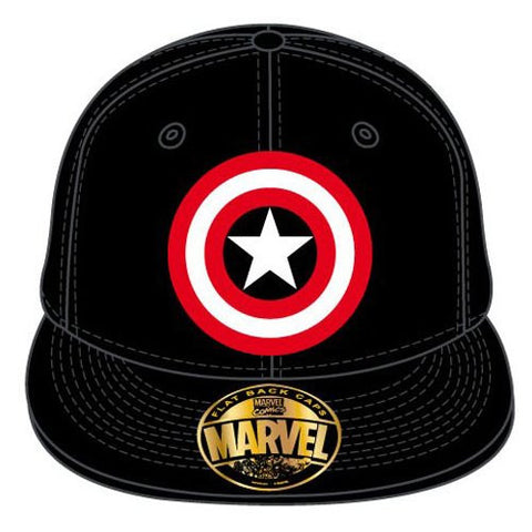 Captain America Shield Cap Black