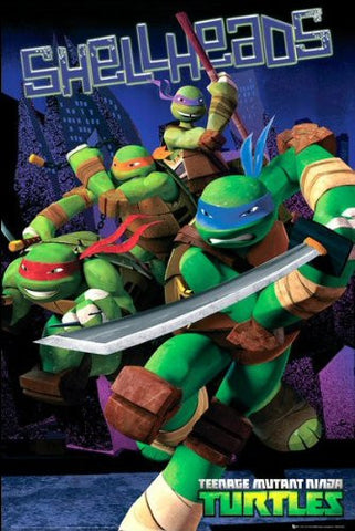 Ninja Turtles Shellheads Poster
