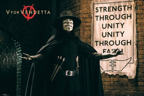 V For Vendetta Unity Poster