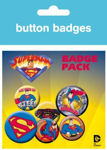 Superman Comic Style Badge Pack
