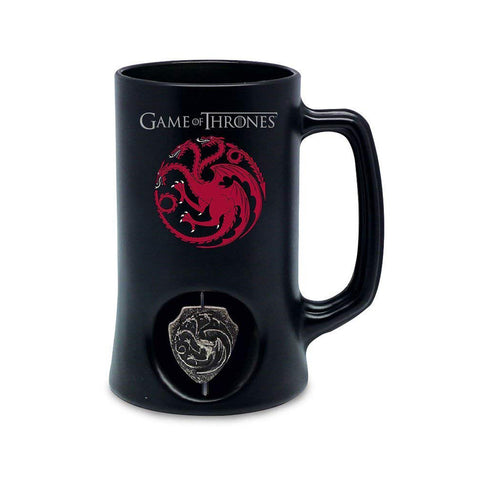 Game of Thrones 3D swirling Targaryen symbol Black Stein Mug