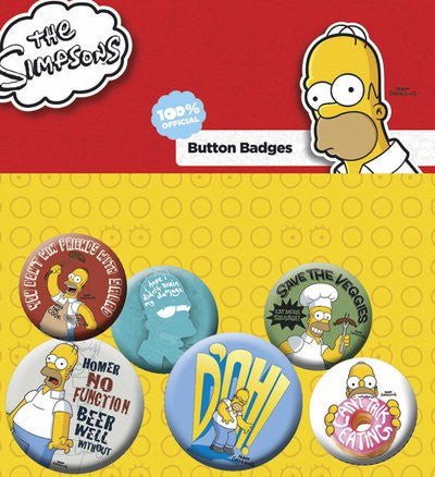 The Simpsons Family Faces Badge Pack