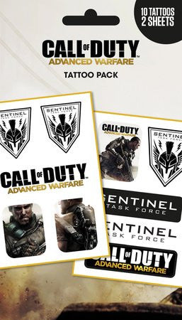 COD Advanced Warfare Sentinel Tattoo Pack