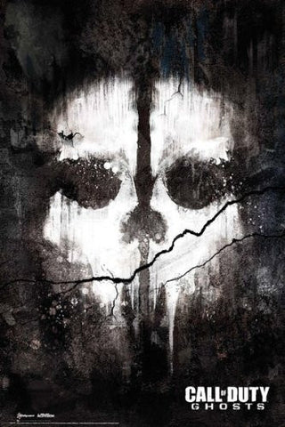 Call of Duty Ghosts Skull Poster
