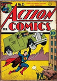 Superman Action Comics Large Tin Sign