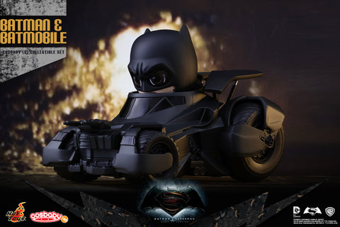 Batman v Superman Cosbaby - Batman and Batmobile Collectible Set