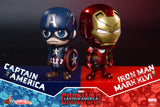 Captain America 3  Cosbaby - Captain America & Iron Man MK46 Set